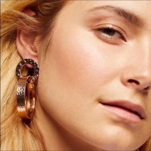 Free People Jewelry - Free People Hammered Copper Out All Night Earrings